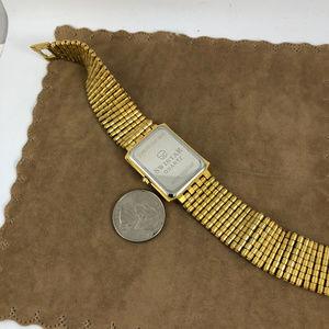 Swistar Accessories - Fabulous Swistar Gold Tone Metal Link Tank Watch